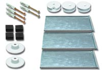 spiegelbefestigung bis maximal 2 6 qm. Black Bedroom Furniture Sets. Home Design Ideas